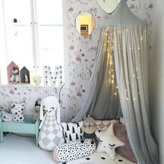 A starry canopy will light your pages. | 17 Adorable Reading Nooks That Are Cosy AF