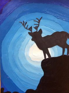The grade 6 students have jumped straight into painting. This particular task was a two lesson introduction to MONOCHROME painting skills, and SILHOUETTES. Now, that these beautiful mini-paintings … Classroom Art Projects, School Art Projects, Art Classroom, Monochromatic Paintings, Monochrome Painting, 7 Elements Of Art, Silouette Art, 4th Grade Art, Circle Art
