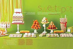 Chevron Dessert Table.