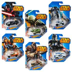 Star Wars Hot Wheels 1:64 Character Car Case Wave 1 Rev 1 - Mattel - Star Wars - Vehicles: Die-Cast at Entertainment Earth