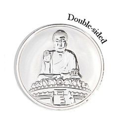 Mi Moneda Small Silver Plated Buddha Coin from Michael Jones Jeweller
