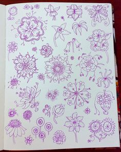 Doodles By Lindsaywhimsy Tangle Doodle, Doodles Zentangles, Zen Doodle, Doodle Sketch, Doodle Drawings, Flower Drawings, Doodle Inspiration, Art Journal Inspiration, Doodle Patterns