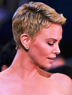 awesome Charlize Theron Short Hair