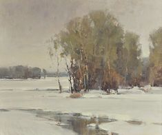 Marsh Scene - Winter - Scott Christensen - 2014 April Auction ...