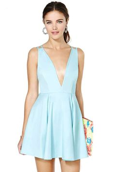 Nasty Gal Live It Up Dress - Blue