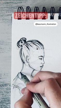 Zeichentipp: 4 Fehler, die du beim Profil zeichnen vermeiden solltest: Portrait illustration