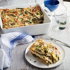Creamy Artichoke and Asparagus Lasagna | CookingLight.com #myplate, #wholegrain, #veggies , #dairy