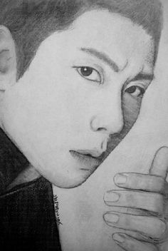 https://flic.kr/p/vkTDM7 | Park Hyo Shin | my charcoal and pencil sketch