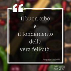 """""""Il buon cibo è il fondamento della vera felicità"""". (Auguste Escoffier)  #BuonaDomenica #weekendconsecondchef #Second_Chef #eat #food #ricette"""