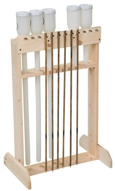 3Rivers Archery: item = Arrow Dipping Rack Kit.  Could probably make this..