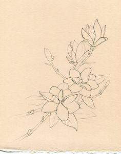 perfect sketch - magnolia - tattoo