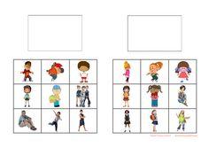 Tiles for the boy/girl sorting game. Find the belonging board on Autismespektrum on Pinterest. By Autismespektrum