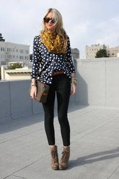 want navy blouse with white polka dots BAD!
