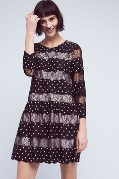 ab8d7ff024a3 Details about New Anthropologie Kit Lace Dress By Zero To Sky RETAIL  188  Size 4 Black
