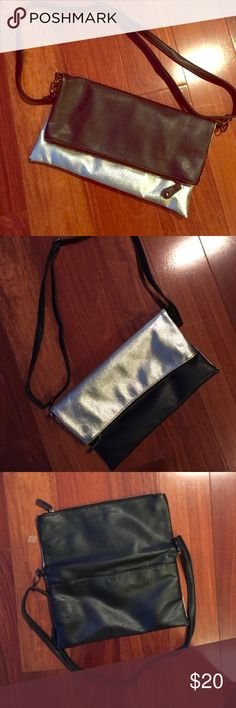 Black & Silver foldover crossbody Perfect for travel & can be worn as black or silver  // purchased from Nordstrom (listing ASOS for visibility) Bags Crossbody Bags