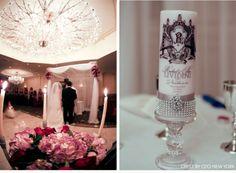 Opulent Baroque Wedding. Invitation as seen on #CeciStyle. Photographer: Giovanni Viscariello #elegant #newyork #ceremony #brideandgroom #unitycandle