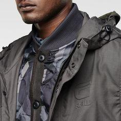 G-Star RAW | Men | Jackets | Rovic Solar Hooded Parka , Raw Grey