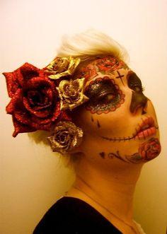 Halloween makeup for work?? Love it!!