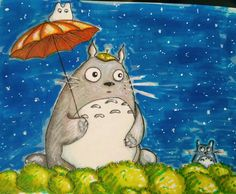 Totoro. Alcohol markers.