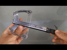 How To Make a Full Compund Micro crossbow Crossbow Parts, Diy Crossbow, Crossbow Arrows, Crossbow Hunting, Survival Weapons, Survival Tips, Survival Skills, Archery, Compound Crossbow