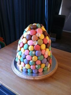 Macaron Tower Cake By Taaartjes on CakeCentral.com