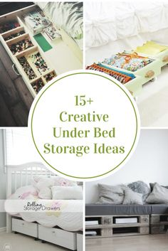 Check out these Creative Under Bed Storage Ideas to help inspire you to get organized and help out with all of your small space needs. Kids Bedroom Organization, Home Organization Hacks, Bedroom Storage, Storage Spaces, Storage Ideas, Diy Storage, House Is A Mess, Under Bed Storage, Small Space Living