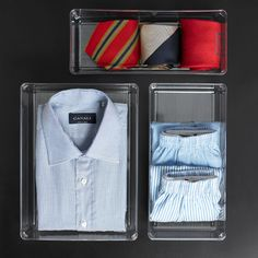 Thanks to their extra-deep size, our Linus Closet Drawer Organizers are just right for organizing dresser drawers.  Choose from a variety of sizes to customize storage for undergarments and folded clothes.