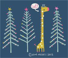 pop-i-cok: tall skinny tree Tall Skinny Christmas Tree, Tall Skinny Trees, Winter Illustration, Graphic Illustration, Bright Christmas Decorations, Christmas Tree Drawing, Christmas Graphics, Kids Christmas, Doodle Art