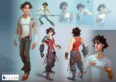 Ilion animation studio / Character design Mario