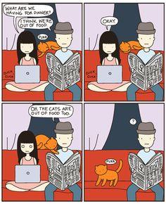 cat versus human  http://www.catversushuman.com/2012/12/blog-post.html#
