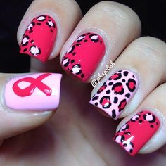 Like this nail art for a cuse- Breast Cancer Awareness www.komeniowa.org