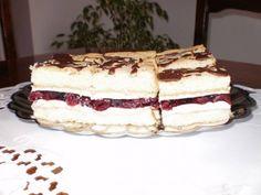 Meggyes-zselés piskóta Jelly Cake, Sour Cherry, Tiramisu, Keto, Ethnic Recipes, Sweet Stuff, Food, Food Food, Ideas