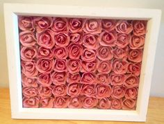 Framed Actual Pink Rosebuds~Shabby Chic Cottage Decor