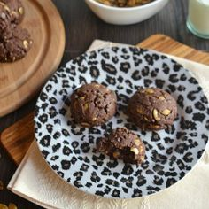 Flourless Mexican Chocolate Cookies with Spicy Roasted Pepitas. These chewy cookies are gluten free, grain free, non dairy and delicious!!!
