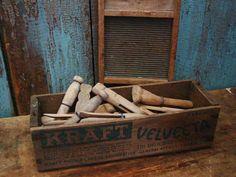 Image detail for -Vintage Primitive Wood Clothes Pins Antique Wood Cheese Box Primitive ...www.etsy.com