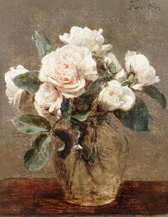 Henri Fantin Latour: White Roses