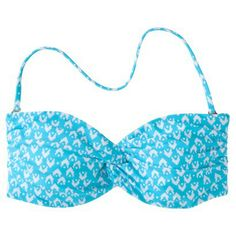 Mossimo® Women's Mix and Match Printed Bandeau Swim Top -Cool Blue