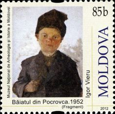 «Boy from Pocrovca Postage Stamp Art, Aso, How To Make Paper, Mail Art, Sorting, Art Gallery, Portraits, Paintings, Artists