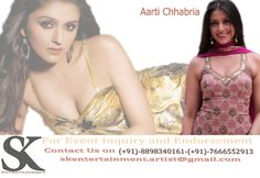 Aarti chhabria is available with us for events