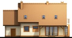 Detached house with attic and garage, intended for person family. Due to the clear layout of the premises and. Building A House, Multi Story Building, Country House Plans, Wooden House, Design Case, Simple House, Home Fashion, Detached House, Home Goods