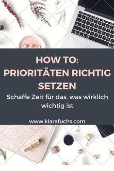 PODCAST: So setzt du dir richtig Prioritäten. Was ist dir wirklich wichtig? - KlaraFuchs.com #zeitmanagement #motivation #wenigerstress #girlboss #persönlichkeitsentwicklung