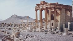 """The temple of Baalshamin in Palmyra, Syria, seen in a file image dating back to 1960. ISIS <a href=""""http://www.cnn.com/2015/08/24/middleeast/syria-isis-palmyra-ruins-temple/index.html"""">militants are reported to have rigged the ruins</a> with large quantities of explosives before detonating them. The timing of the blast is uncertain -- the UK-based Syrian Observatory for Human Rights says it happened sometime in late July/early August."""