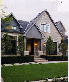 gray craftsman house with metal