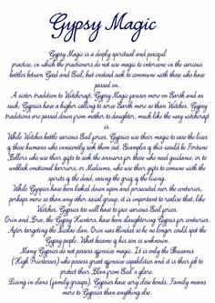 A simple page detailing Gypsy Magic. All of it is completely made up. Witch Spell Book, Witchcraft Spell Books, Magick Book, Magick Spells, Witchcraft Spells For Beginners, Sigil Magic, Gypsy Spells, Emo, Gypsy Witch