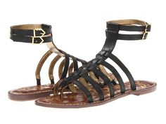 Sam Edelman - Gilda  Price: $63  Dominate the streets as you sport this gladiator-inspired sandal. Leather upper. Thong design. Dual adjustable ankle straps with buckle closure. Lightly padded insole. Man-made sole. Measurements: Heel Height: 1 4 in Weight: 6 oz Product measurements were taken using size 7 width M. Please note that measurements may vary by size.