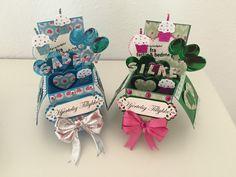 Popupbox - card in a box - spellbinderdies - diecut - spellbinders Til mine dejlige børnebørn <3