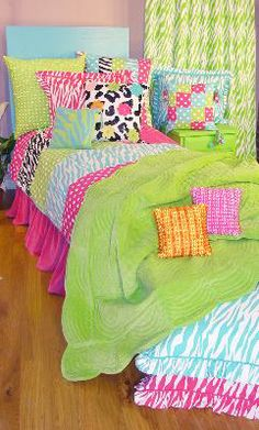 Zebra Patch Bedding-like the ides but too much $ to buy for all my girls