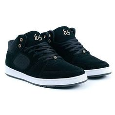 Es #skateboarding footwear #accel slim mid black #skate shoes new free #delivery,  View more on the LINK: http://www.zeppy.io/product/gb/2/182136646399/