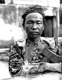 Ethnographic Arms & Armour - Period Photos of People with Ethnographic ArmsDatu Piang