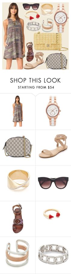 """""""Simply super"""" by camry-brynn ❤ liked on Polyvore featuring Z Supply, Michael Kors, Gucci, Joie, Adina Reyter, STELLA McCARTNEY, Vita Fede, Maya Magal, Alexander Wang and Chanel"""